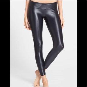 Koral lustrous shiny black leggings